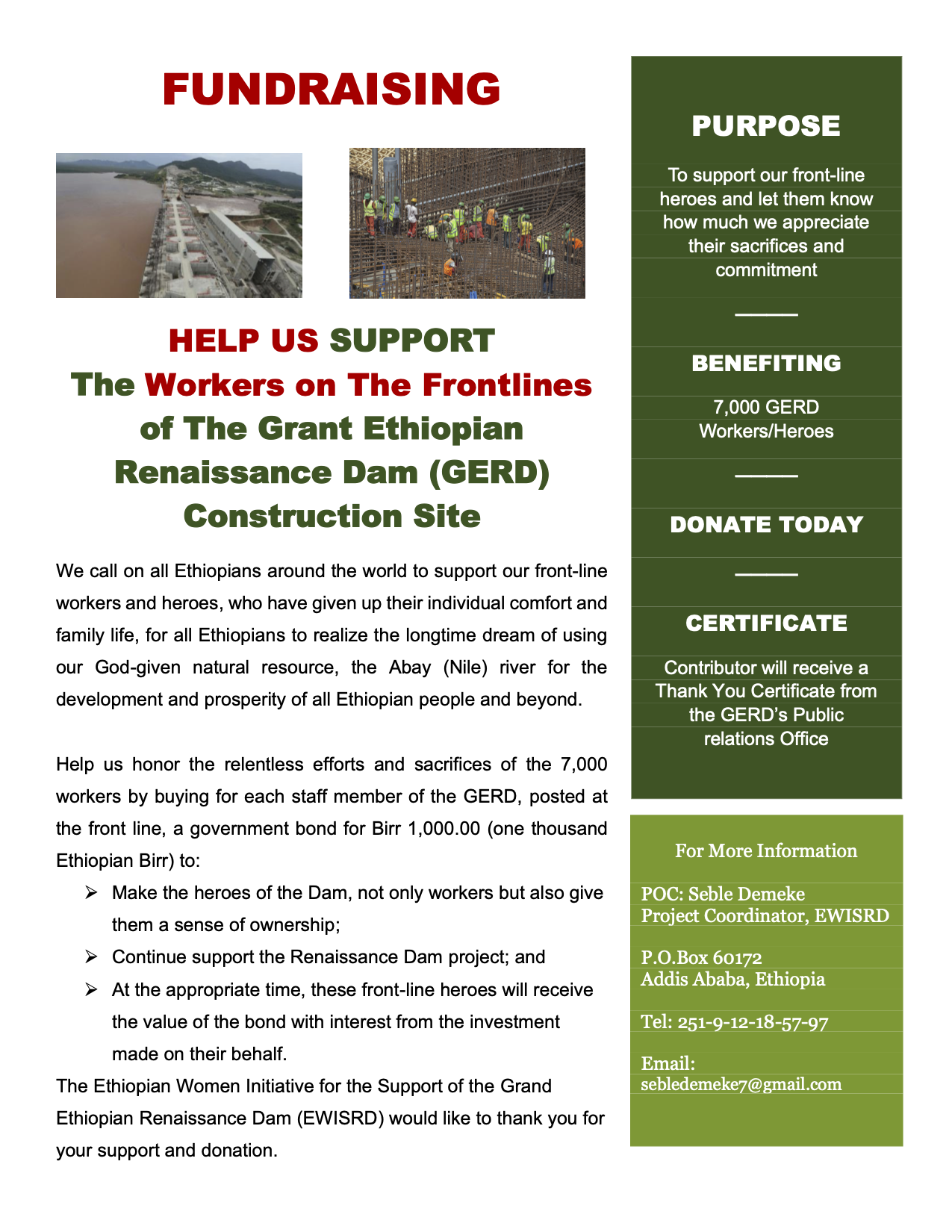 Help US Support Workers on the Frontlines of GERD.